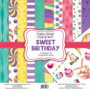 "Набор скрапбумаги ""Sweet birthday"" 20X20 См"