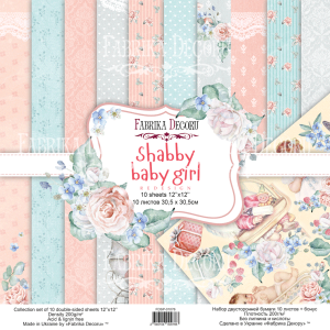 "Набор скрапбумаги ""Shabby baby girl redesign"" 30,5X30,5 См"